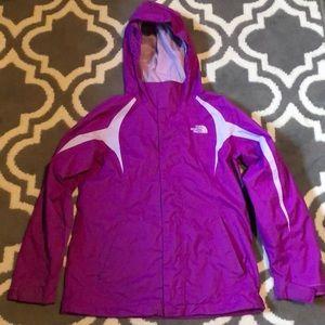 Northface raincoat for girls size 10/12 EUC!